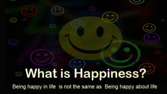 Being happy about life is not being happy in life.